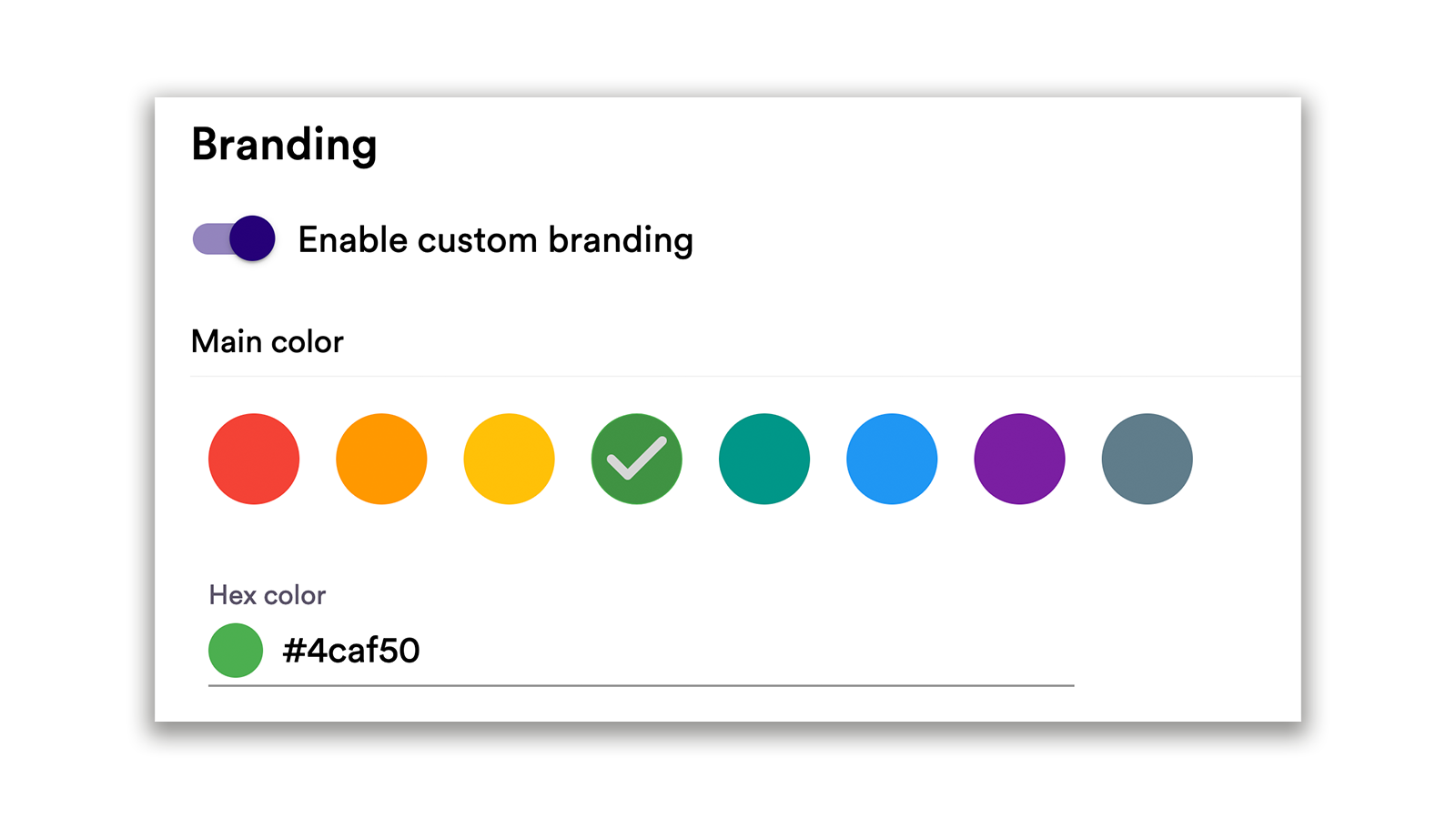 Customisable branding and other product development news